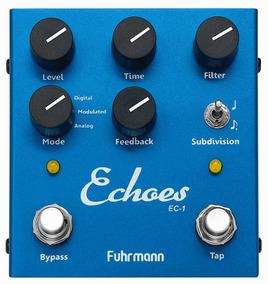 Pedal Echoes Tap Delay Fuhrmann Guitarra Violão Fr Gr Nfe