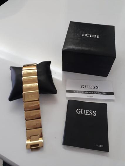 Relogio Guess Feminino C/ Cristais Estilo Bracelete Original