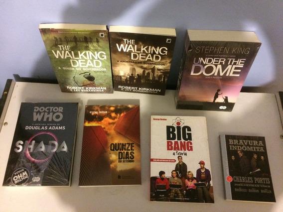 Lote De Livros - Walking Dead, Under The Dome, Shada