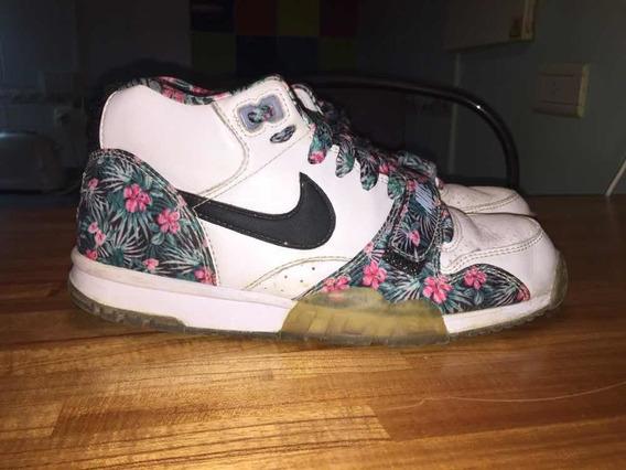 zapatillas nike blancas con flores