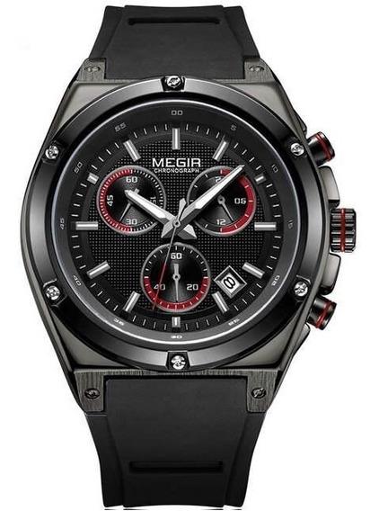 Relógio Megir Cronógrafo Masculino Hardlex Top