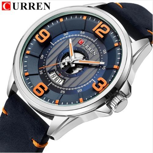 Relógio Curren 8305 Com Datador 3 Cores