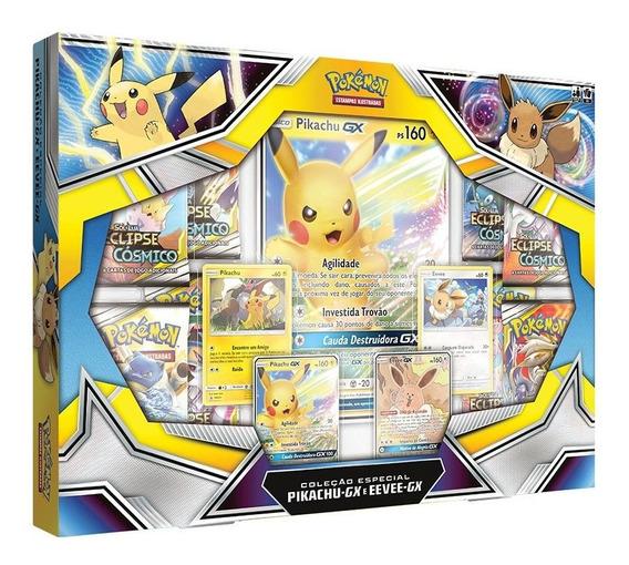 Box Pokemon Pikachu-gx E Eevee Gx Espada E Escudo Cards