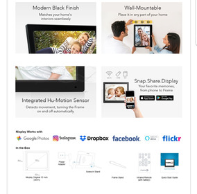 Porta Retrato Digital Nixplay Wi-fi 15 Polegadas