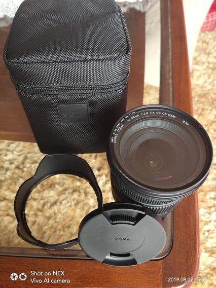 Lente Sigma 17-50mm F/2.8 Ex Dc Para Câmeras Canon