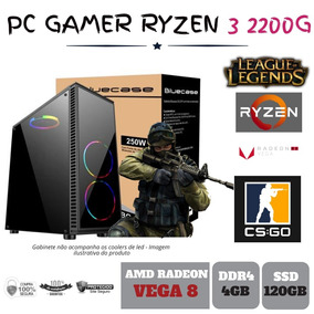 Pc Gamer Amd Ryzen 3 2200g 3.5ghz Ddr4 Ssd120gb - Bg2514