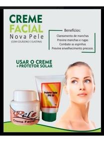 2 Nova Pele Creme Facial Clareador + 2 Protetor Nova Pele