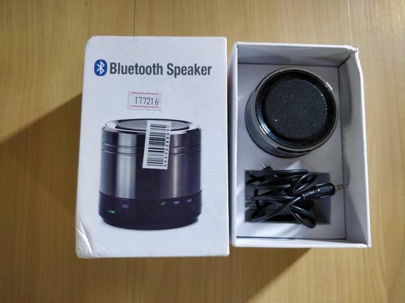 Caixa De Som Metal Bluetooth Com Rádio Lê Sdcard Celular P2