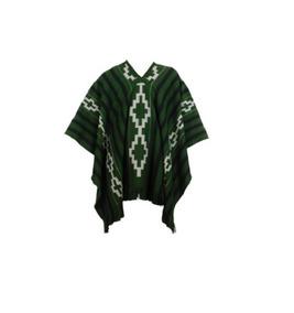 Pala Poncho Gaúcho De Lã Acrílica Unisex Verde