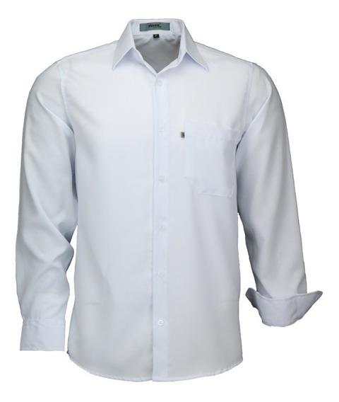 Camisa Amil Microleve Não Amassa Manga Longa Com Bolso Luxo