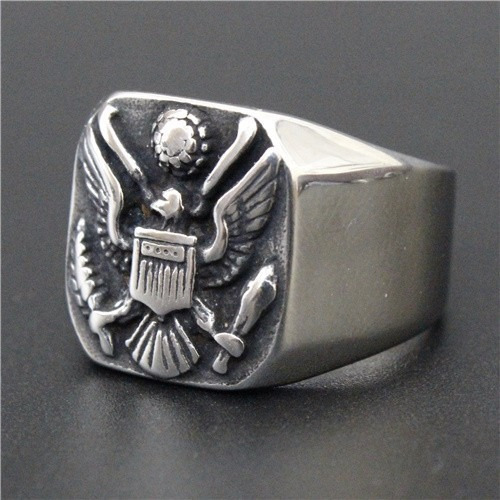 Anel Rússia Emblema Águia Aro 19 Aço 316l