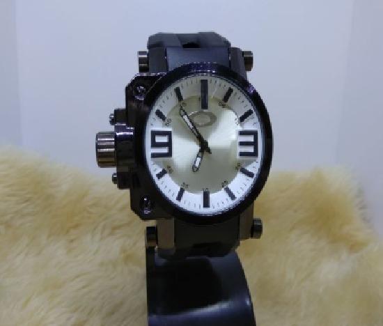 Relógio Masculino De Pulso Oakley Barato Promoção Prata