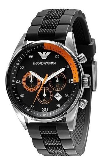 Relógio Emporio Armani Cronógrafo Preto Original C/nf Ar5878