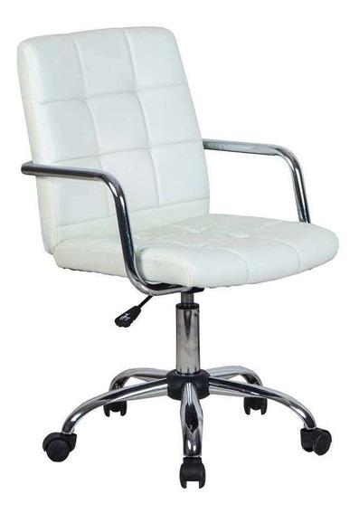 Cadeira De Escritório Secretária Fitz Branca