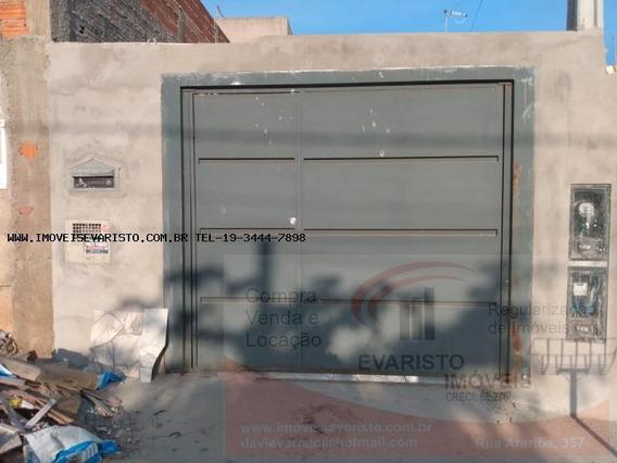 Casa Para Venda Em Limeira, Abilio Pedro, 2 Dormitórios, 1 Suíte, 1 Banheiro - 3075
