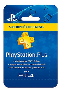Tarjeta Playstation Plus 3 Meses Sony (cuenta Americana)