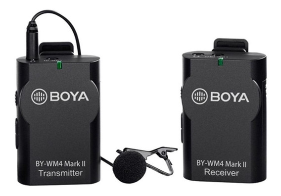 Microfone sem fio Boya BY-WM4 Mark II omnidirecional preto