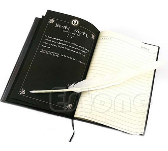 Novo Notebook Death Note Cosplay & Feather Pen Livro Animati