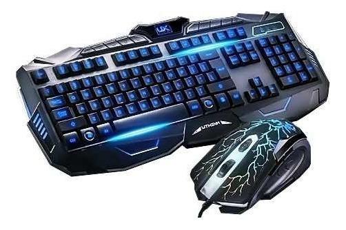 Kit Gamer Led Teclado + Mouse Neon Backlighting Com Ç E A2