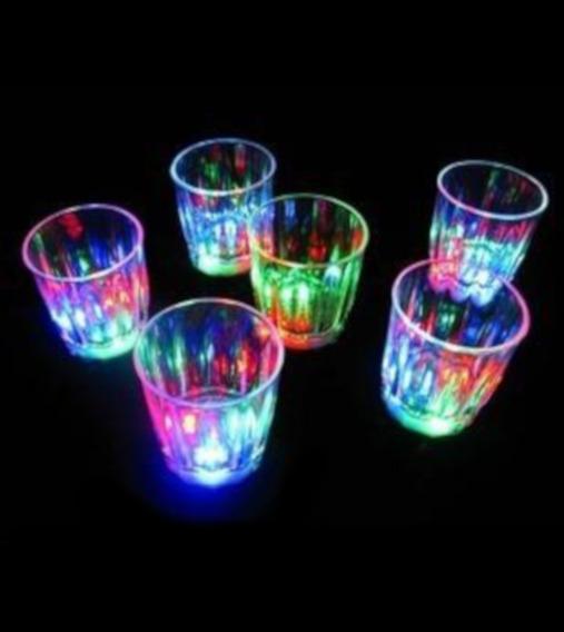 24 Pzsa. Shots Vaso Tequilero Con Luz Led Caballito Luminoso