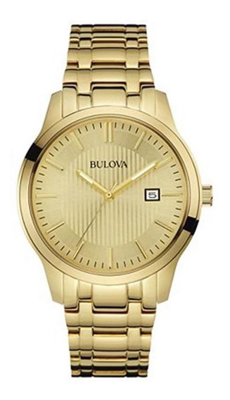 Relógio Bulova Masculino Classico Wb22444g Dourado Oferta