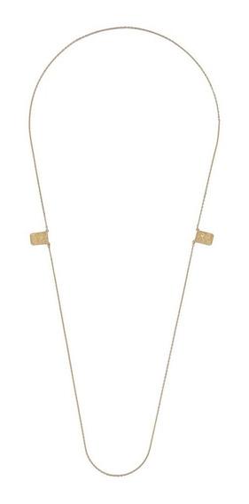 Morana | Colar Dourado Escapulário Banho Em Ouro