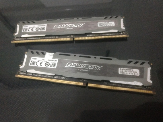 Memória Ram Dd4 2400mhz 8 Gb (2x4) Ballistix