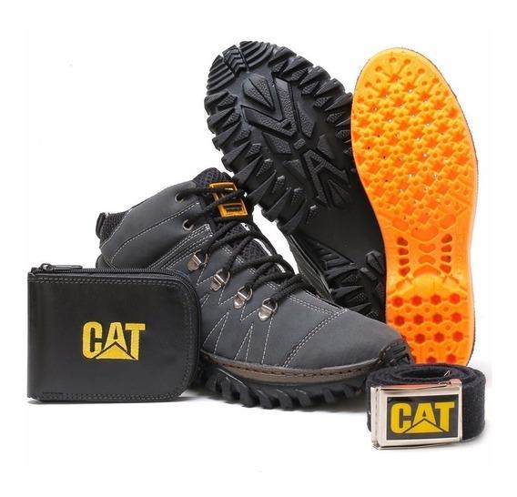 Kit Cuturo Caterpillar Sapato Sapatenis Bota Casual Botinha