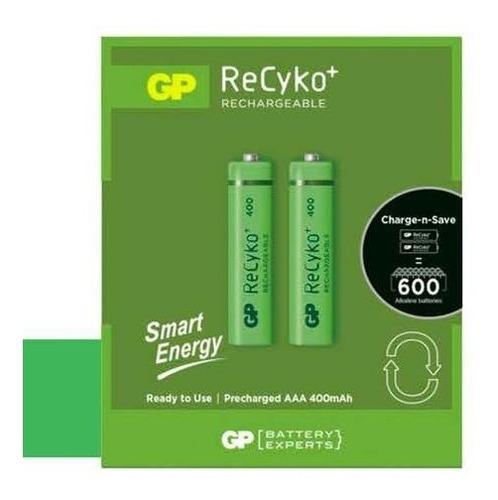 Bateria Recargable Aa Gp Recyko 1000mah Pila Pack 2