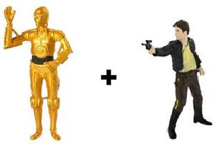 Chaveiro Star Wars - Han Solo E C3-po - Multikids