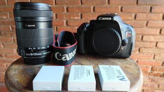Câmera Canon T3i Foto E Filmagem Fullhd Lente 18mm X 135mm
