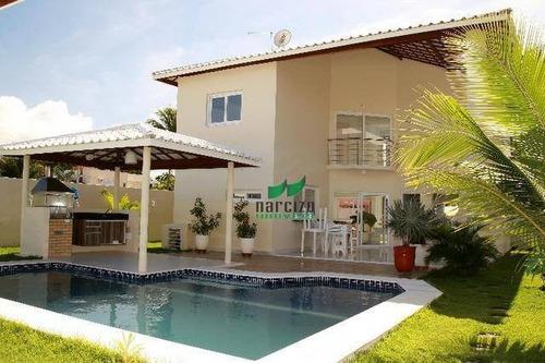Imagem 1 de 30 de Casa Com 4 Dormitórios À Venda, 360 M² Por R$ 1.260.000,00 - Barra Do Jacuípe - Camaçari/ba - Ca2557