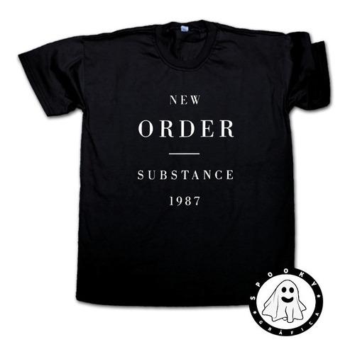 Remera New Order Substance Unisex New Wave, Rock Post Punk