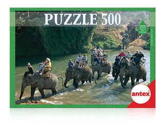Rompecabezas Antex X 500 Piezas Elefantes Tailandia (4872)