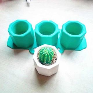 Molde Silicon Maceta Hexagonal Vela, Cactus Ect