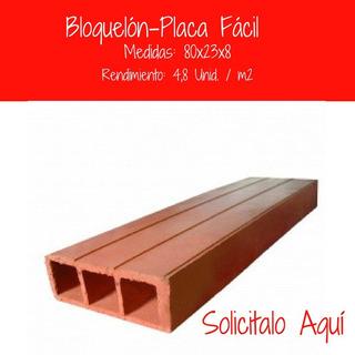 Bloquelón 80x23x8 Cm 4,87 U/m2, Rend. 5 Unid X M2 $ 71200