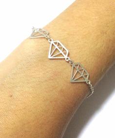 Pulseira Diamante Prata