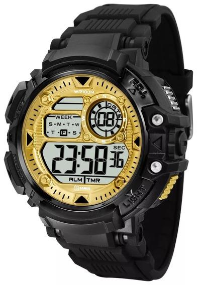 Relógio X-games Masculino Digital Xmppd476 Preto Dourado