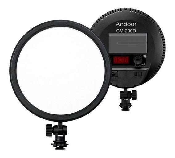 Iluminador Ring Light Andoer 120 Led Fonte Bateria Inclusa