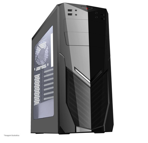 Pc Brazil Black Core I5 6ª/ Hd 1tb + Ssd/ Gtx 1060 + Brindes