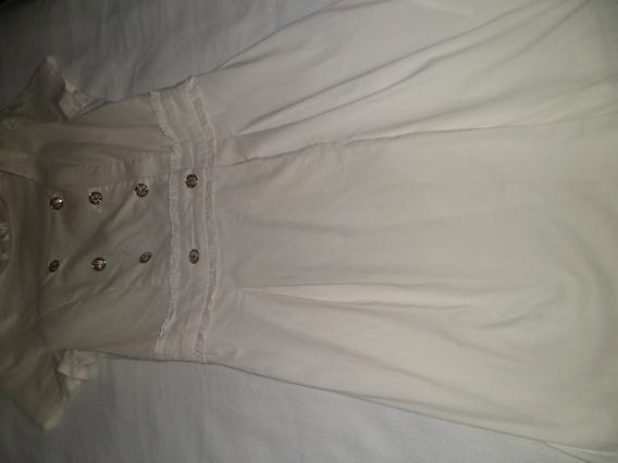 Vestido Blanco De Vestir Ligero A Las Rodillas