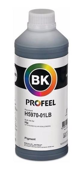 1 Litro Tinta Hp Pigmentada Preto Profeel H5970 Série Prox