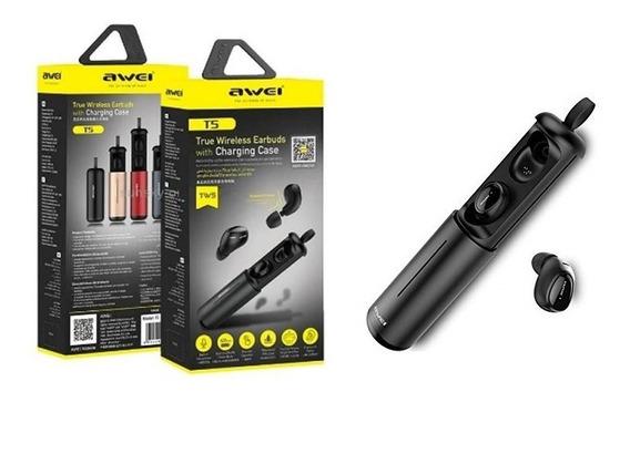 Fone Awei Tws Wireless Bluetooth Stereo Celular Com Bateria