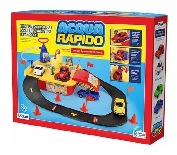 Lava Jato Acqua Rápido Com Carrinhos Infantil Homeplay 8001
