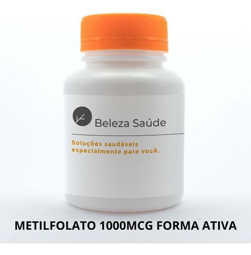 Imagem 1 de 3 de Metilfolato B9 1000mcg Forma Ativa Ácido Fólico : 150 Caps