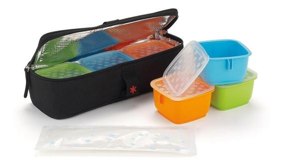 Conjunto De Potes Em Embalagem Termica Skiphop-clix Mealtime