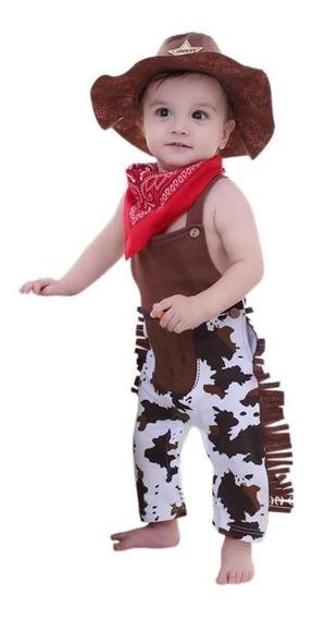 Roupa Fantasia De Xerife Cowboy Country Ensaio Festas Bebês