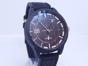 Relógio Masculino Pulseira Couro Marrom Original Barato