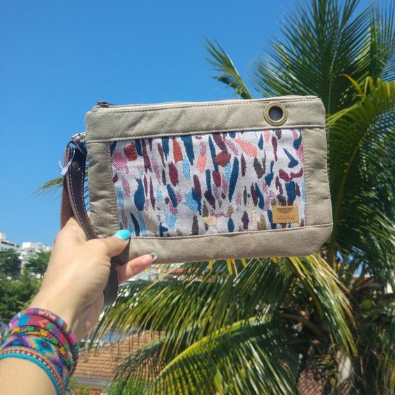 Bolsa De Mão Ilhós Feminina Em Tecido Matisse