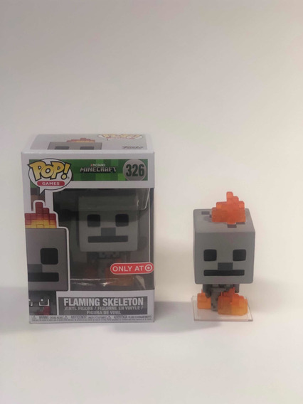 Funko Pop Games Minecraft Skeleton Flaming #326 Only Target